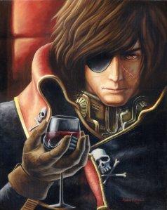 http://princesstigerlili.deviantart.com/art/Captain-Harlock-oil-painting-213572372